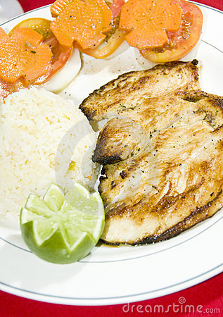 Grilled chicken filet central america