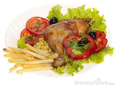 Grilled chicken leg