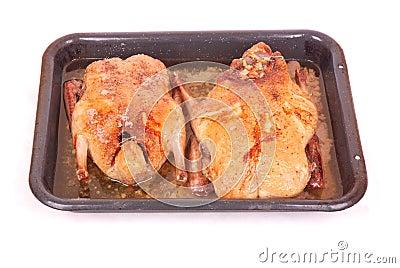 Grilled ducks