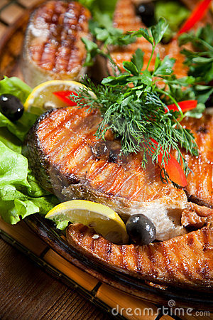 Free Grilled Fish Stock Images - 19821854