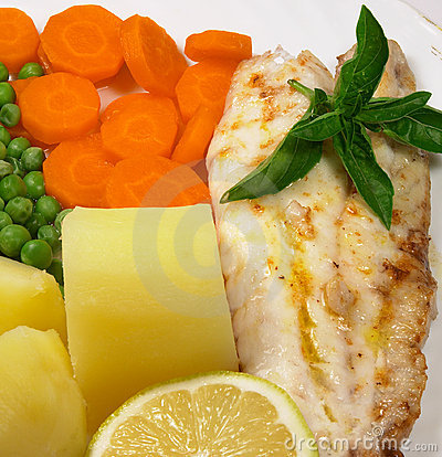 Free Grilled Fish Meal 3 Stock Photography - 101262
