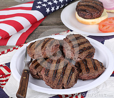 Grilled Independence Day Burgers
