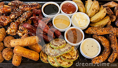 Grilled meat and sausages