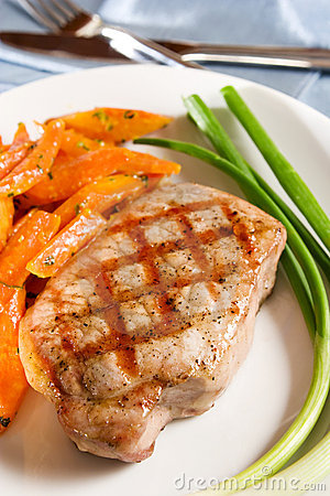 Free Grilled Pork Chop Stock Image - 4562361