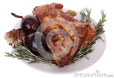Grilled pork ribs