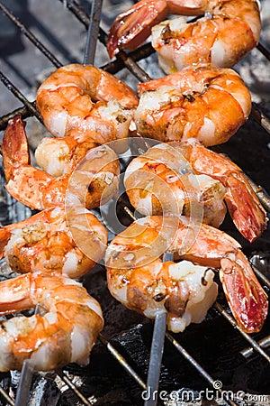 Grilled prawns
