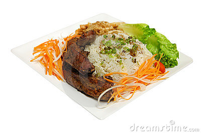 Grilled Ribs Rice