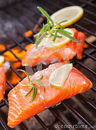 Free Grilled Salmon Royalty Free Stock Photo - 32269165