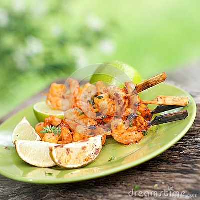 Grilled Scampi Royalty Free Stock Photos - Image: 24760148