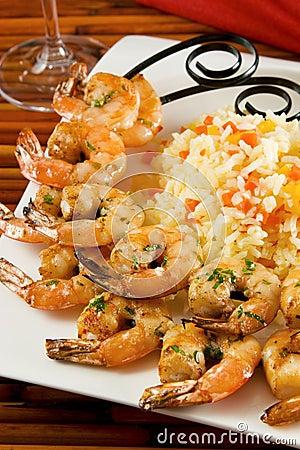 Free Grilled Shrimp Stock Photo - 4581030