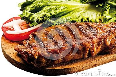 Grilled Sirloin Steak on Board
