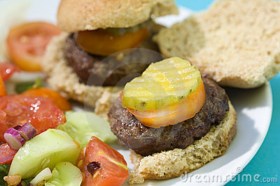 Grilled Slider Hamburgers