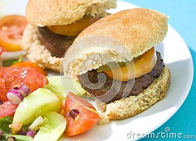 Grilled Sliders Hamburgers