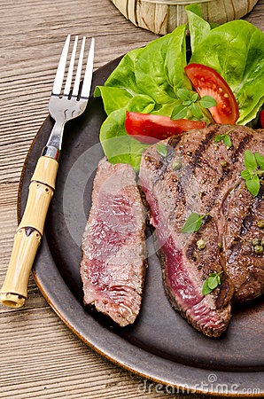 Grilled Steak. Barbecue