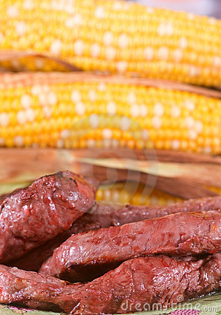 Grilled Steak and Corn