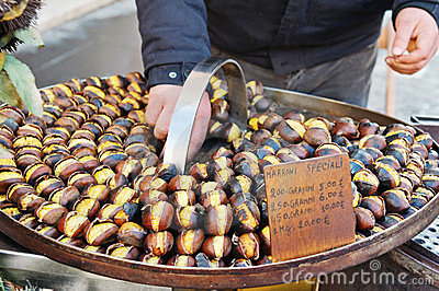 Grilled sweet chestnut