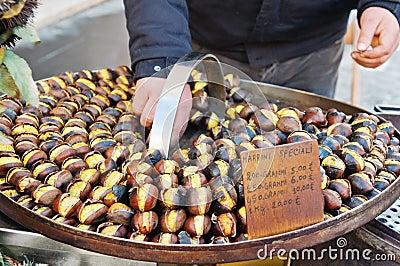 Grilled sweet chestnut