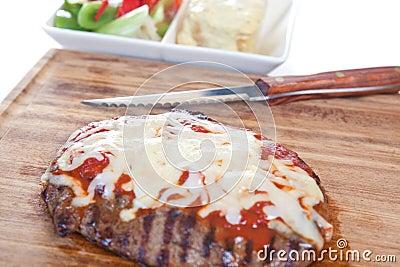 Grilled T bone steak