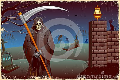 Grim in Halloween night