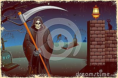Grim in Halloween night