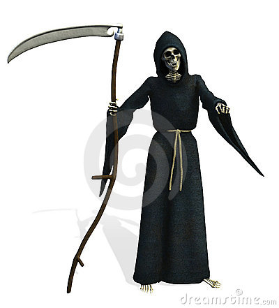 Free Grim Reaper - Includes Clipping Path Royalty Free Stock Photo - 258125