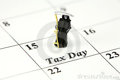 Grim Reaper on tax day