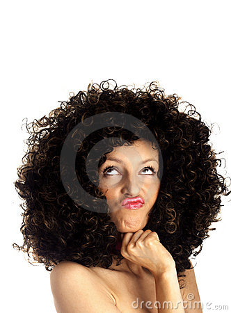 Grimace face - thinking woman