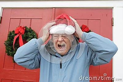 Grinch del día de fiesta de la Navidad