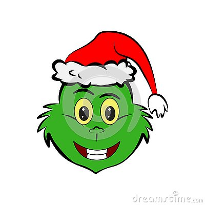 Free Grinch In Smile Emoji Icon Royalty Free Stock Images - 130922579