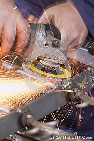 Free Grinding Wheel Cutting Iron Royalty Free Stock Images - 24667659