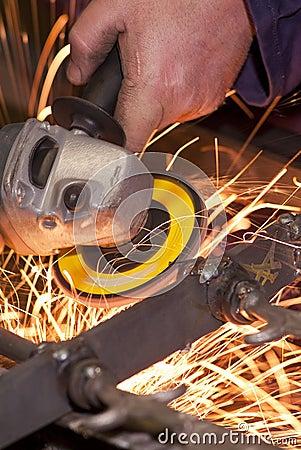 Free Grinding Wheel Cutting Iron Stock Photos - 24667673