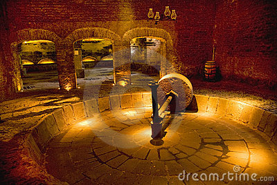 Grinding Wheel Old Tequila Factory Mexico