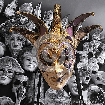 Free Grinning Masquerade Mask Stock Photos - 115140953