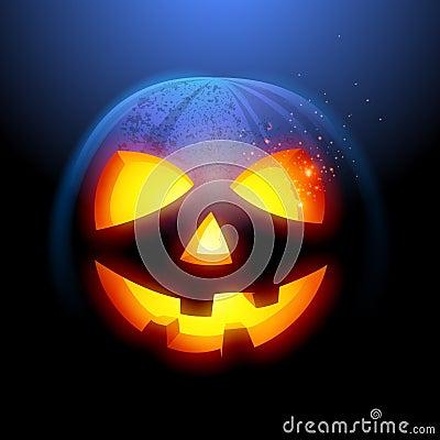 Grinsen des Halloween-Kürbises