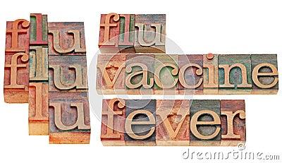 Grippe, Impfstoff und Fieber