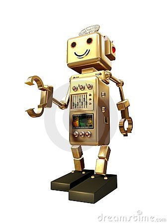 Gripping vintage robot