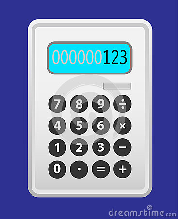 Gris de calculatrice.