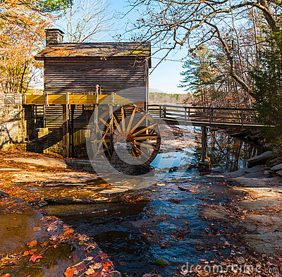 Free Grist Mill In Stone Mountain Park, USA Royalty Free Stock Photos - 93094988