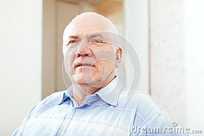 Grizzled senior man