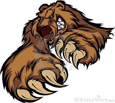 Free Grizzly Bear Mascot Vector Logo Stock Image - 17578721