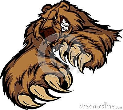Grizzly Bear Mascot Vector Logo