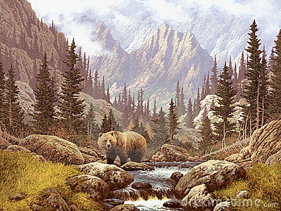 Grizzly Bear in the Rocky Mountains