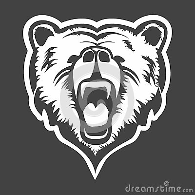 Grizzly Head Vector Stock Vector - Image: 60797161  Yamaha Grizzly Symbol