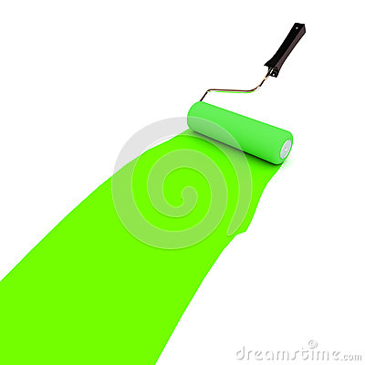 Grön målarfärgrulle