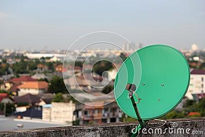 Grön satellit.