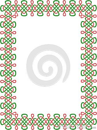 Grün-und-roter keltischer Rand 8