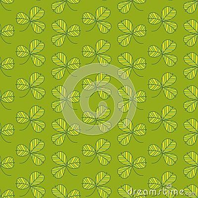 Grön växt av släkten Trifolium mönstrar