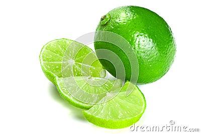 Gröna limefrukter