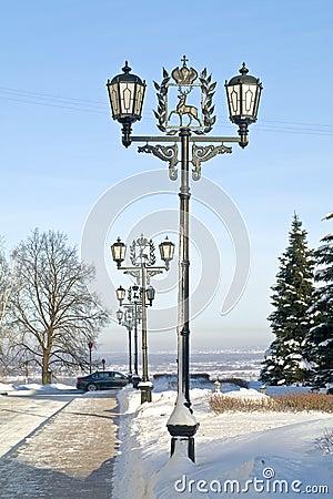 Gränd i Kremlinen av Nizhny Novgorod