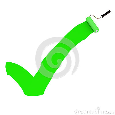 Grüne Farben-Zecke